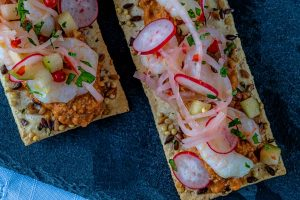 Seafood flatbreads and other delicacies await